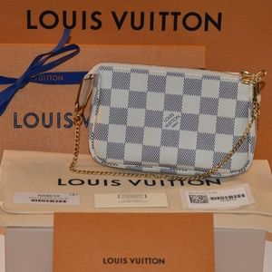 Authentic Louis Vuitton Mini Pochette Azur